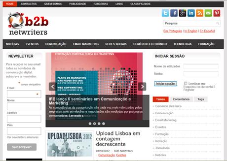 B2B Netwriters: novo blog sobre questões de comunicação empresarial em português