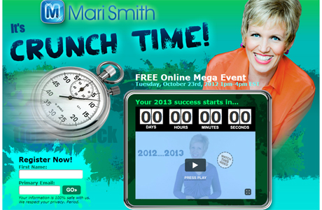 Crunch time: evento online organizado por Mari Smith