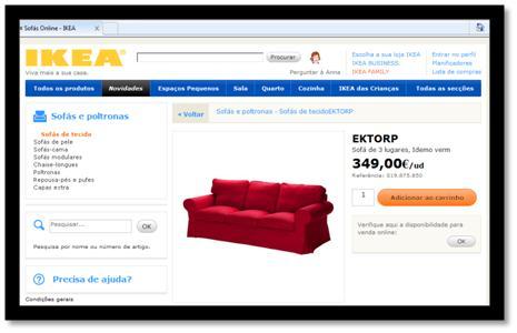 IKEA vende sofás online até 23 de Maio